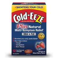 COLD-EEZE Cold Remedy Plus Natural Multi-Symptom Relief Lozenges, Mixed Berry Flavor 12 ea [091108304503]