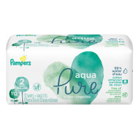 Pampers Aqua Pure Baby Wipes  112 Ea [037000754152]