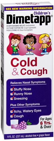 Dimetapp Children's Cold and Cough Red Grape 8 oz [300312234194]