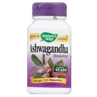 Nature's Way Ashwagandha Standardized Vegetarian Capsules 60 ea [033674153871]