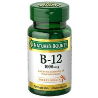 Nature's Bounty Vitamin B-12 1000 mcg Tablets 100 ea [074312013805]