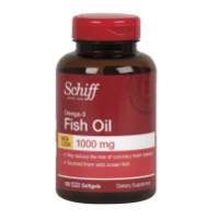 Schiff Omega-3 Fish Oil 1000 mg Softgels 100 ea [020525128775]