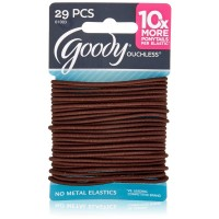 Goody Ouchless Elastics, Brown 29 ea [041457010037]