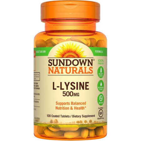 Sundown Naturals L-Lysine 500 mg Tablets 100 Tablets [030768008307]