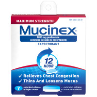 Mucinex 12 Hr Max Strength Chest Congestion Expectorant Tablets 7 ea [363824023076]