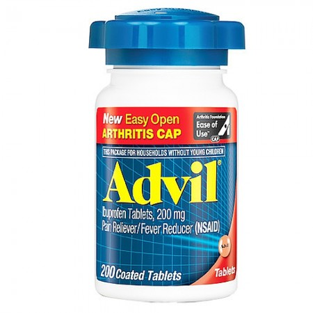 Advil Ibuprofen Pain Reliever/Fever Reducer 200 mg Coated Tablets 200 ea [305730154215]