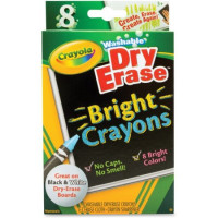 Crayola Washable Dry Erase Crayons, Bright Colors, Assorted 8 ea [071662052027]