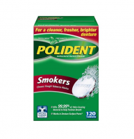 Polident Smokers Denture Cleanser 120 ea [310158320852]