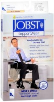 JOBST SupportWear Socks Men's Dress Knee High 8-15mmHg Khaki Large 1 Pair [035664107987]