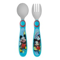 The First Years Easy Grasp Flatware Spoon & Fork Set, Disney Mickey Mouse 1 ea [071463091683]