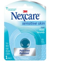 Nexcare Sensitive Skin Tape Holds Securely, 1 in x 144 in 1 ea [051131200357]