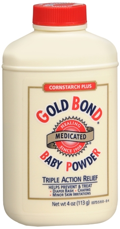 Gold Bond Cornstarch Plus Baby Powder 4 oz [041167023044]