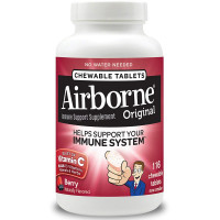 Airborne Berry Chewable Tablets 1000mg of Vitamin C - Immune Support Supplement 116 ea [647865208815]