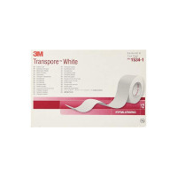 "3M Medical Tape  Transpore White Water Resistant Plastic 1"" X 10 Yard White NonSterile, 12 ea [707387525927]"