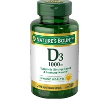 Nature's Bounty High Potency Vitamin D-1000 IU Softgels, 200 ea [074312156069]