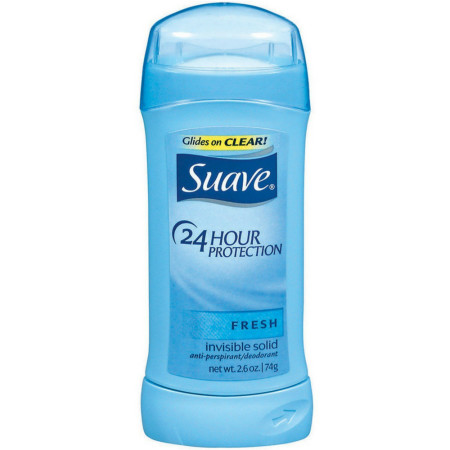 Suave 24 Hour Protection Anti-Perspirant Deodorant Invisible Solid, Fresh 2.60 oz [079400764201]