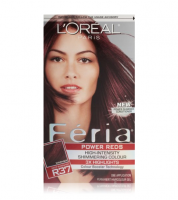 L'Oreal Paris Feria Power Reds High-Intensity Shimmering Colour, Blowout Burgundy [R37] 1 ea [071249217917]