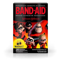 BAND-AID Brand Adhesive Bandages, Incredibles 2 Assorted Sizes 20  ea [381371175840]