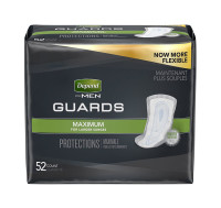 Depend For Men Incontinence Guards, Maximum Absorbency 52 ea [036000137927]