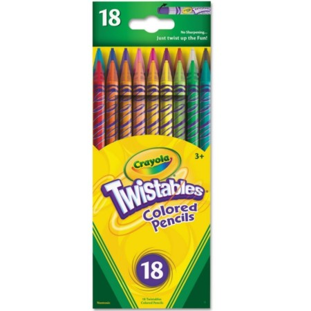 Crayola Twistables Colored Pencils, Assorted Colors 18 ea [071662274184]