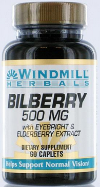 Windmill Bilberry 500 Mg Capsules 60 ea [035046007607]