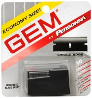 Gem Super Stainless Steel Single Edge Blades 10 Each [024500022119]