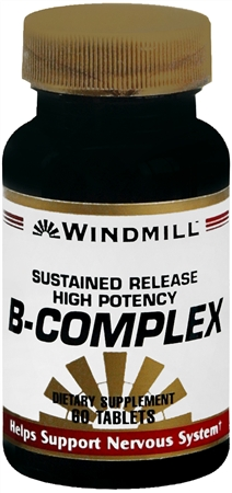 Windmill Vitamin B-Complex Tablets Sustained Release 60 Tablets [035046001414]