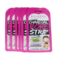 Biovène Charcoal Pore Strip.(035 oz ) Instantly Cleans Clogged Pores, Removes Blackheads and Eliminates Impurities
