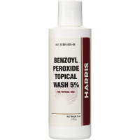 Harris Benzoyl Peroxide Wash 5% Bottle, 5 oz [367405825059]