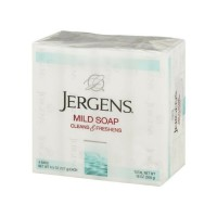 Jergens Mild Soap Cleans & Freshens 4 bars, 4.5 oz [019100005228]