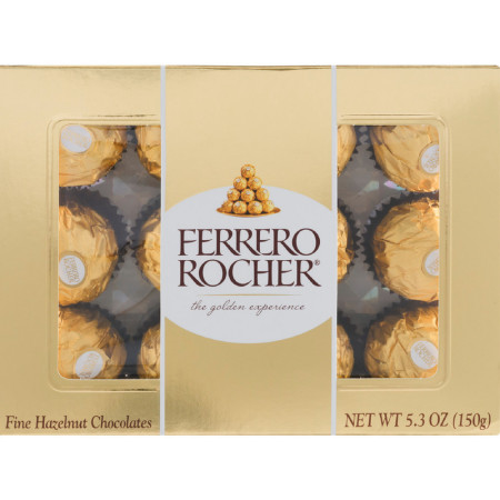 Ferrero Rocher Fine Hazelnut Chocolate 5.30 oz [009800000715]