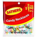 Sathers Candy Necklace 12 pack (1.35 oz per pack)  [075602101134]