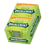 Wrigley's Doublemint Gum Slim Pack 10 pack (15 ct per pack)   [989802266600]