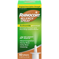 Rhinocort 24 Hour Non-Drowsy Allergy Relief Spray, 60 Sprays, 0.169 oz [300450646606]