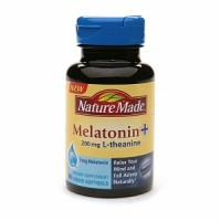 Nature Made Melatonin + L-Theanine 200mg, Softgels 60 Caplets [031604027940]