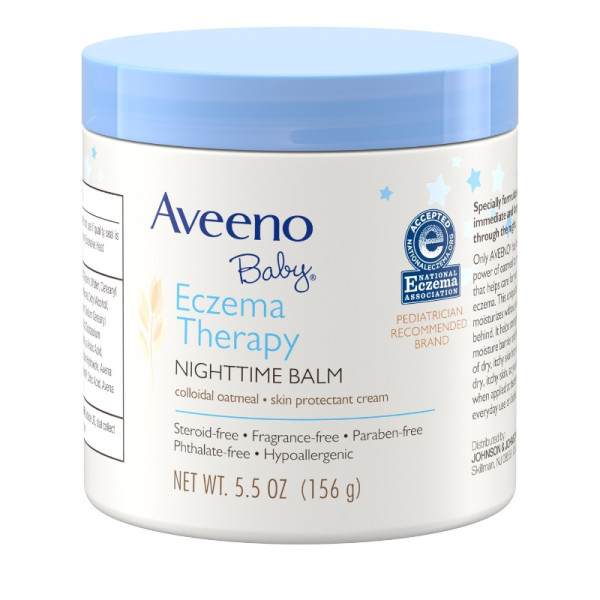 AVEENO Baby Eczema Therapy Nighttime Balm with Natural Colloidal Oatmeal  for Eczema Relief, 5 5 oz