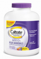 Caltrate Calcium & Vitamin D Plus Minerals, 600+D, Chewables, Cherry, Orange & Fruit Punch, 155 ea [300055567641]