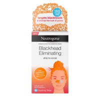 Neutrogena Blackhead Eliminating Pore Strip to Facial Scrub with Salicylic Acid Acne Treatment, Oil-Free & Non-Comedogenic,  14  ea [070501100554]