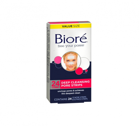 Biore Deep Cleansing Pore Strips Combo 24 ea [019100170018]