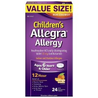 Allegra Children's Allergy 12 Hour Orally Disintegrating Tablets, Orange Cream Flavor 24 ea [041167423264]