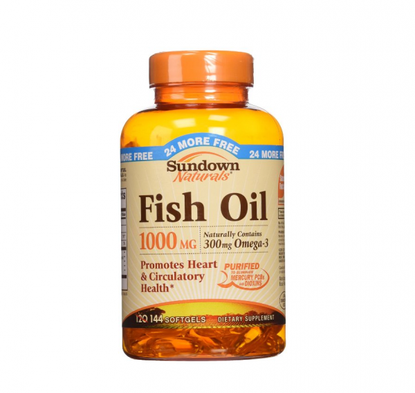 Sundown naturals fish oil 1000 mg softgels 120 soft gels for Dog food with fish oil