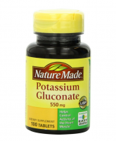 Nature Made Potassium Gluconate 550 mg Tablets 100 ea [031604013585]