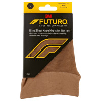 FUTURO Energizing Ultra Sheer Knee Highs Mild Large Nude 1 Pair [051131201132]