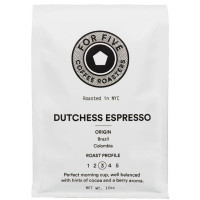 For Five Dutchess Espresso Whole Bean 12oz [853473008147]