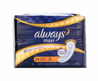 Always Overnight without Wings, Unscented Pads 28 ea [037000386018]