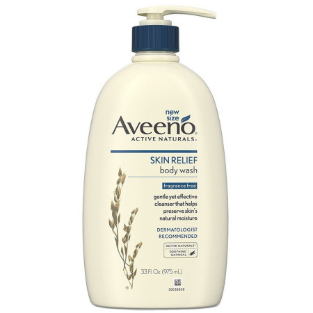 AVEENO Active Naturals Skin Relief Body Wash Fragrance-Free 33 oz [381371178537]