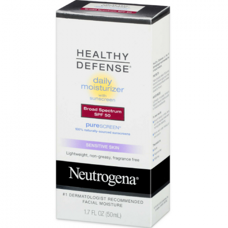 Neutrogena Healthy Defense Daily Moisturizer Sensitive Skin,  SPF 50 Lotion 1.70 oz [070501860212]