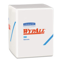 "WypAll X60 Task Wipe Light Duty White NonSterile Hydroknit 10 X 1212"" Disposable, 70 ea [036000410839]"