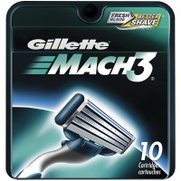 Gillette MACH3 Refill Cartridges 10 ea [047400313088]