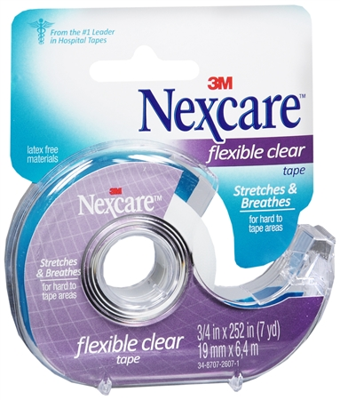Nexcare Flexible Clear Tape 3/4 Inch X 7 Yards 7 Yards [051131669949]